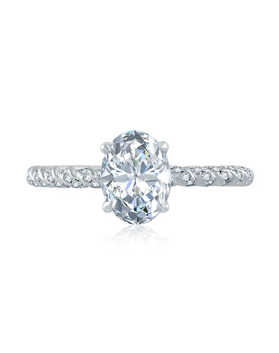 A.JAFFE Unique Oval Cut Engagement Ring