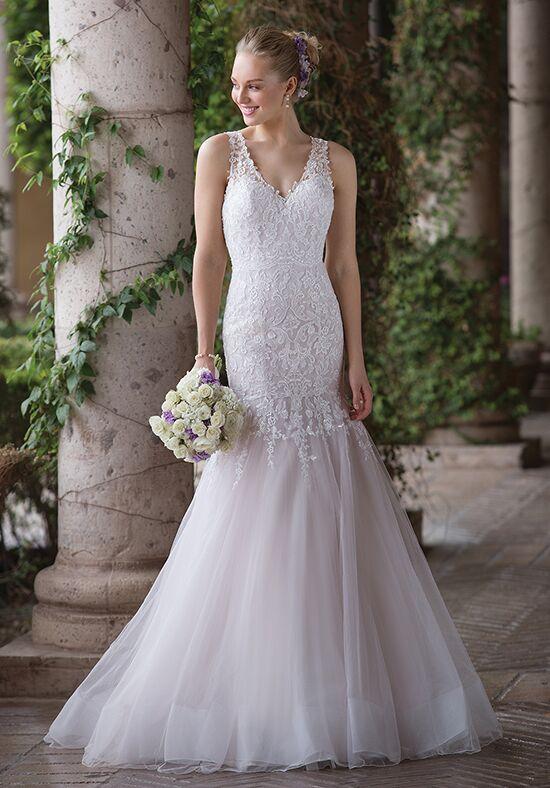 Short V-Neck Wedding Dress