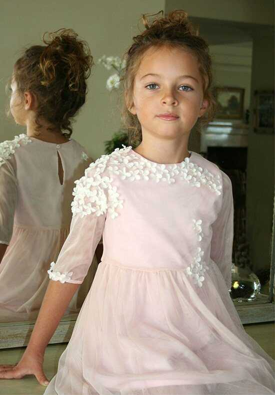 Isabel Garretón Spring Pink Flower Girl Dress