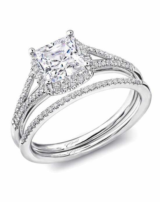 Coast Diamond Princess Halo Engagement Ring-LC5443 Engagement Ring photo