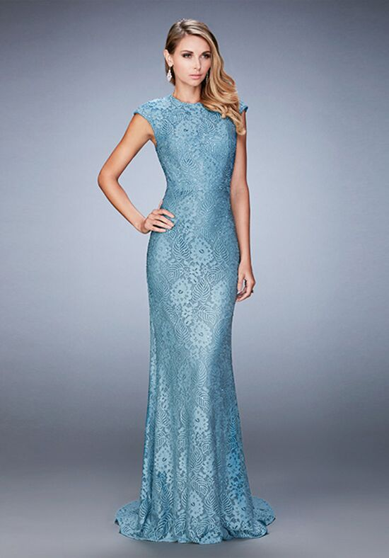 La Femme Evening 22971 Blue Mother Of The Bride Dress