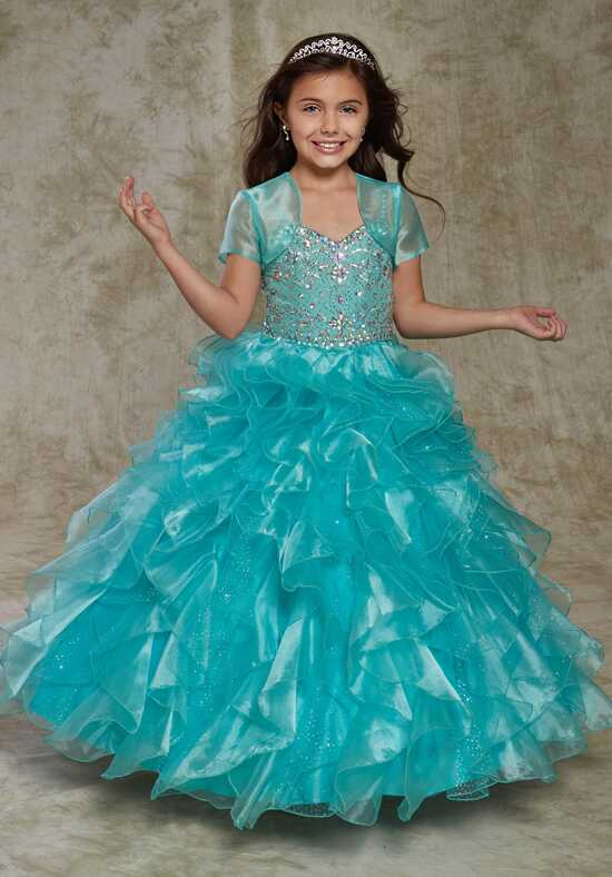 Cupids by Mary's FP175 Blue Flower Girl Dress