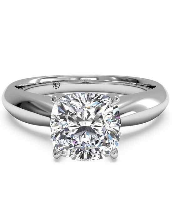 ritani solitaire diamond tapered engagement ring - Cushion Cut Wedding Rings