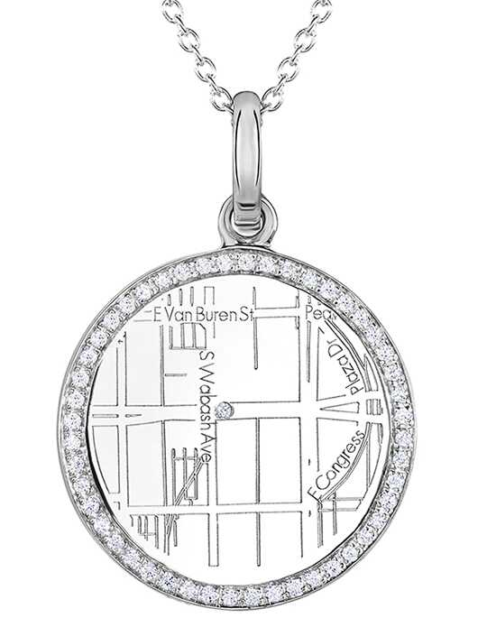 A.JAFFE Maps MAPP006 Wedding Necklace photo