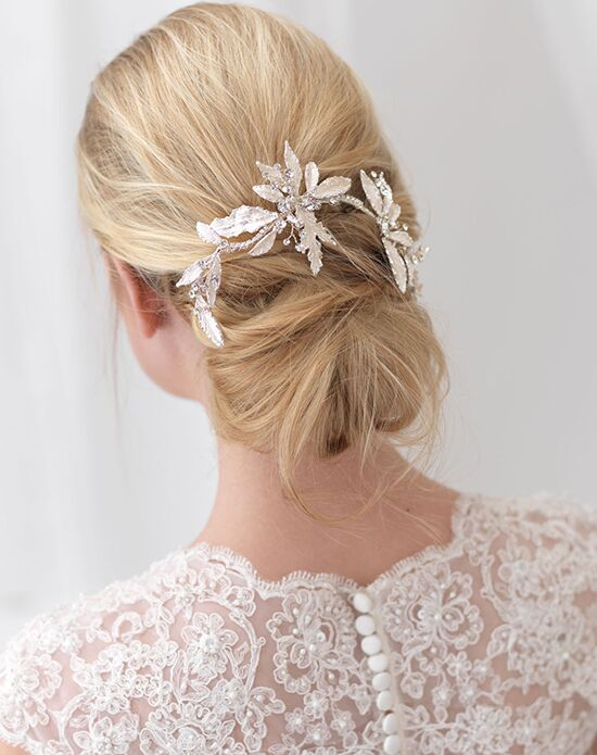 USABride Caprice Floral Clip TC-2282-new Silver Pins, Combs + Clip