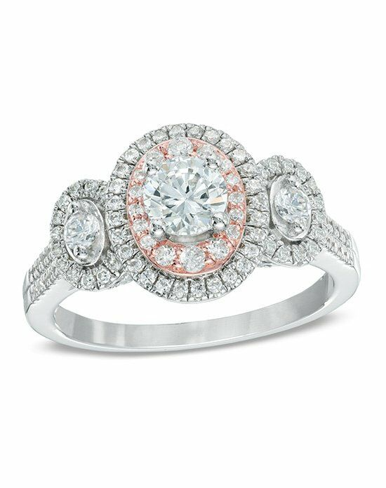 Zales 1 CT. T.W. Diamond Double Frame Past Present Future® Ring in ...