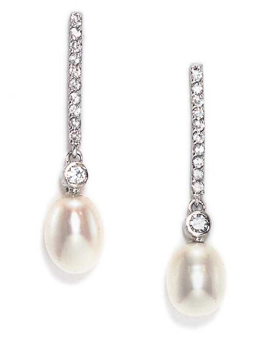Anna Bellagio AUBRIE ELEGANT FRESHWATER PEARL AND CRYSTAL DROP EARRING Wedding Earring photo