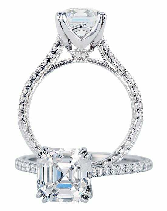 Jack Kelege Asscher Cut Engagement Ring