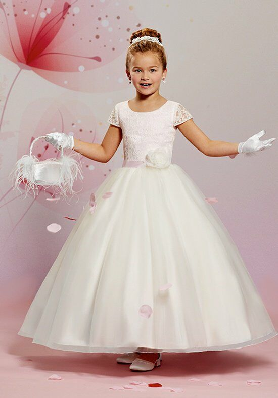 Cupids by Mary's F471 Pink Flower Girl Dress