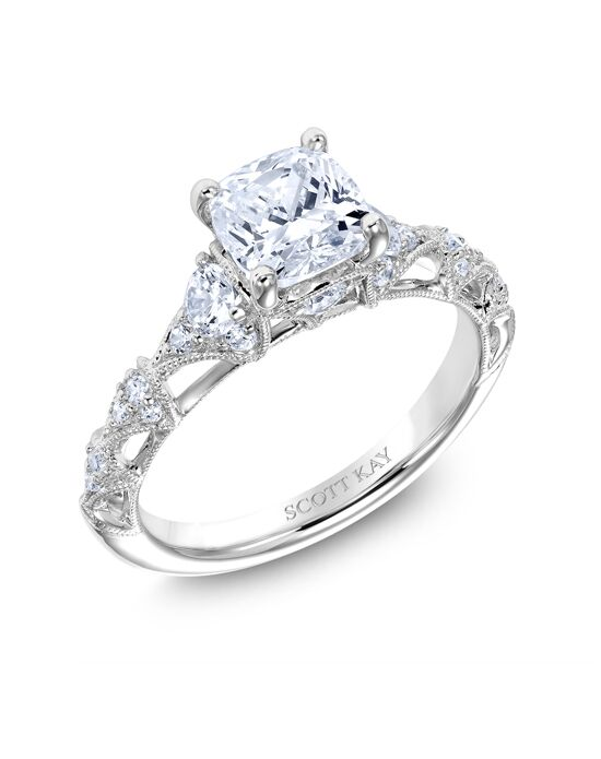 "Say ""Yes!"" in Platinum Elegant Round Cut Engagement Ring"