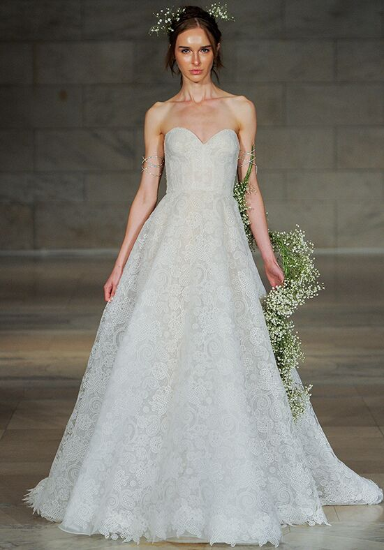 Reem Acra Charm A-Line Wedding Dress