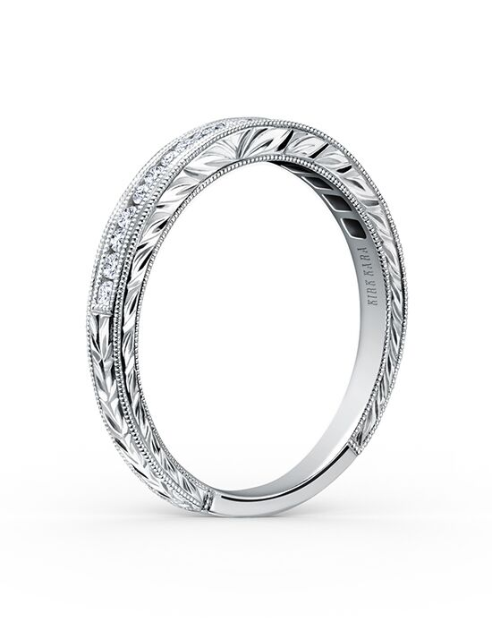 Kirk Kara Stella Collection K1140D-B White Gold Wedding Ring