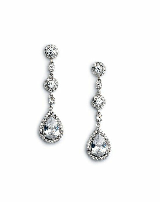USABride Petite CZ Drop Earrings JE-4023 Wedding Earring photo