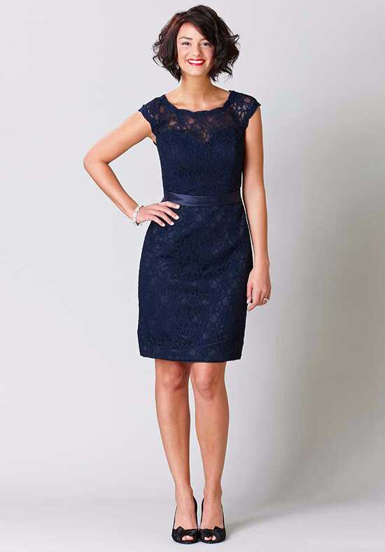 Kennedy Blue Harper Bateau Bridesmaid Dress