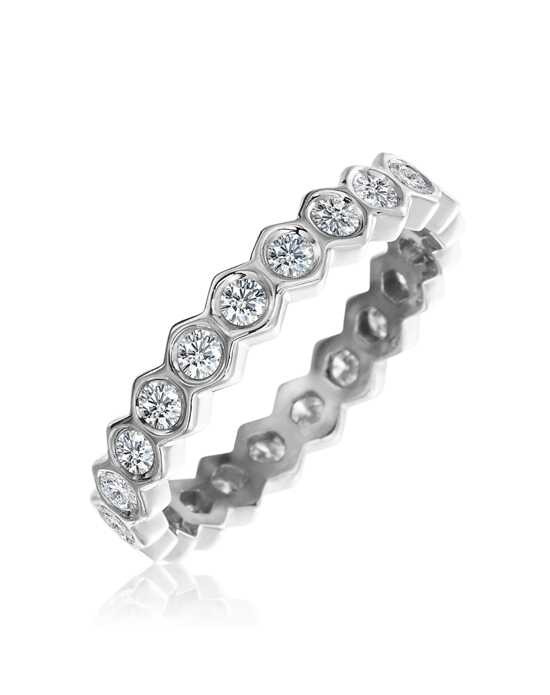 "Platinum Jewelry Gumuchian-""B"" honeycomb eternity band Platinum Wedding Ring"