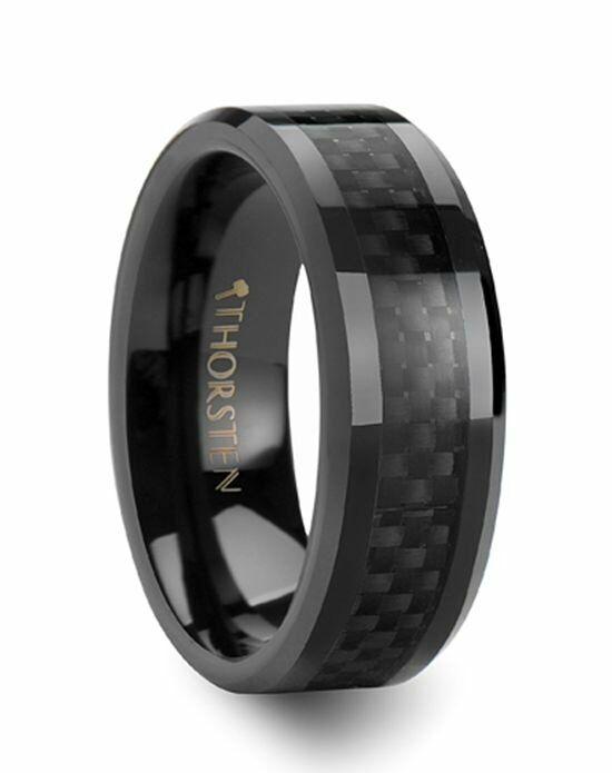 Larson Jewelers ONYX Black Carbon Fiber Inlaid Black Ceramic