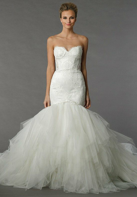 Backless lace wedding dresses kleinfeld mermaid