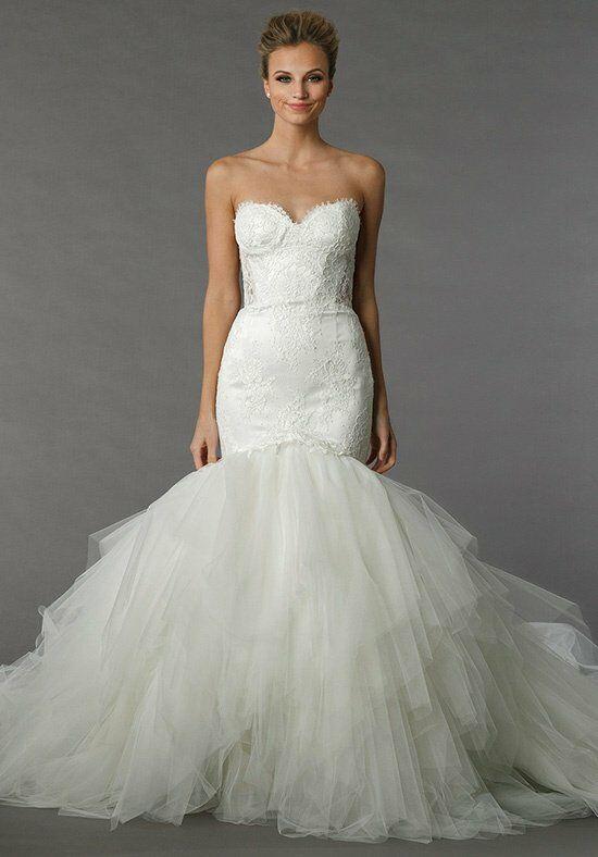 Backless lace wedding dresses kleinfeld mermaid
