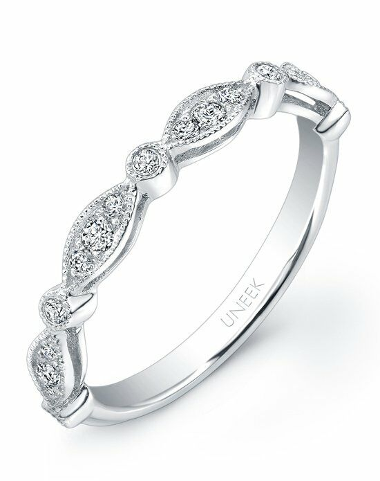 Uneek Fine Jewelry UWB013 White Gold Wedding Ring