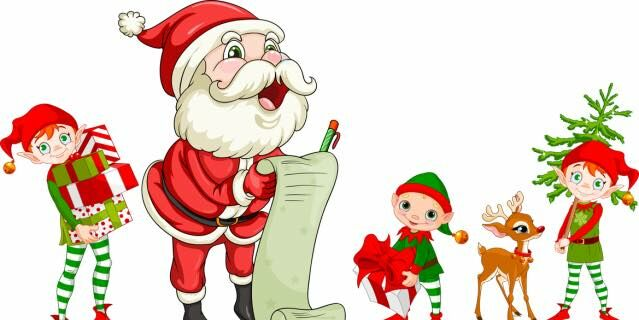 Image result for santa and the elves pictures