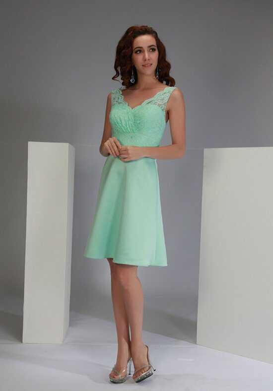 Bella Formals by Venus BM1730NL V-Neck Bridesmaid Dress
