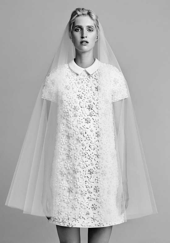 Viktor&Rolf Mariage Flower beaded shift dress Sheath Wedding Dress