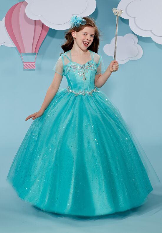Cupids by Mary's F507 Blue Flower Girl Dress