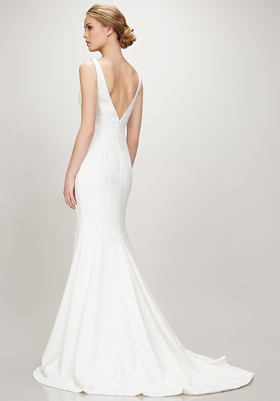 simple ivory wedding dresses theia marissa wedding dress the knot 7487