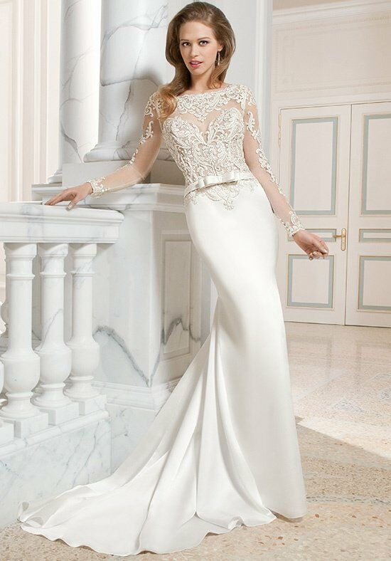 Demetrios C223 Sheath Wedding Dress