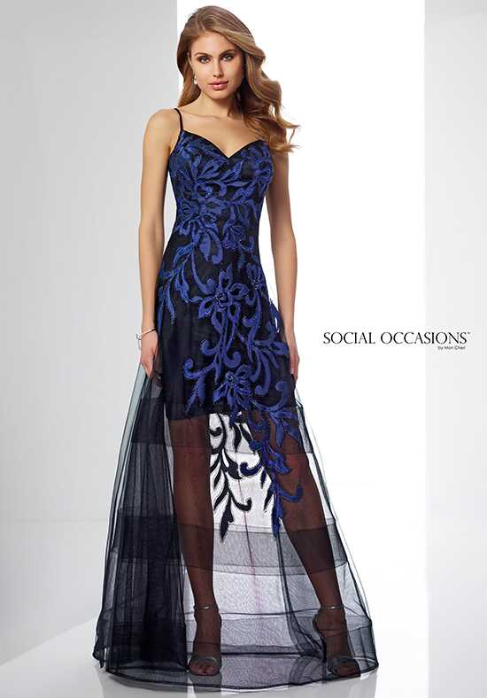 Social Occasions by Mon Cheri 217842 Black Mother Of The Bride Dress
