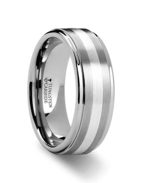 Mens Tungsten Wedding Bands W883-RSSB Tungsten Wedding Ring