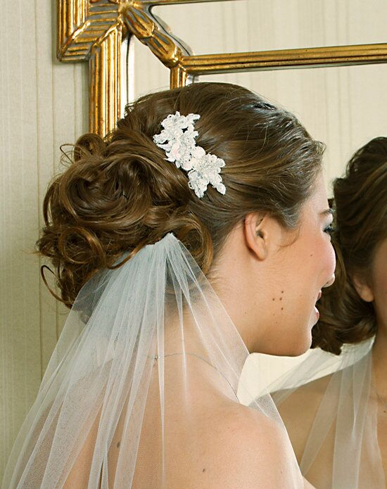Alisa Brides Robin Lace Comb White Pins, Combs + Clip