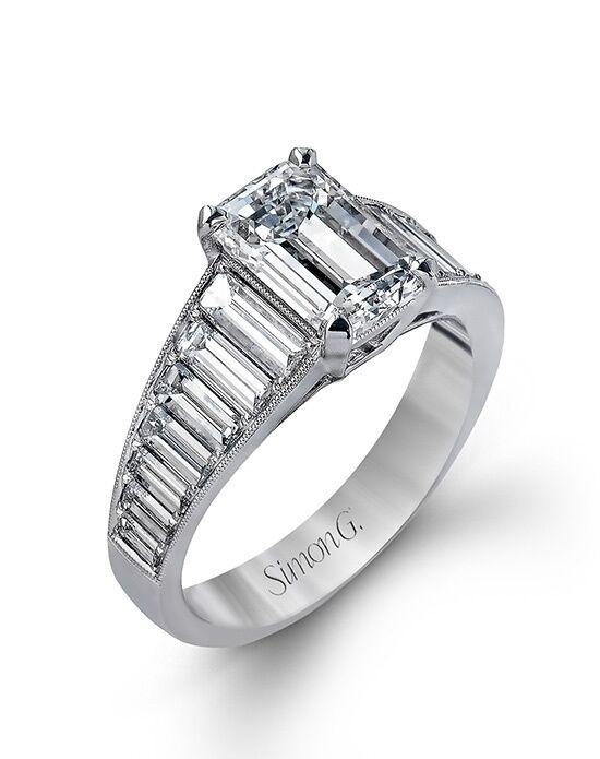 Engagement ring emerald cut diamond