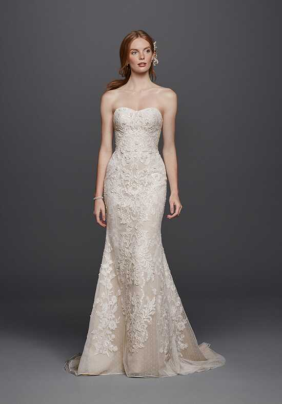 Oleg Cassini at David's Bridal Oleg Cassini Style CWG738 Sheath Wedding Dress