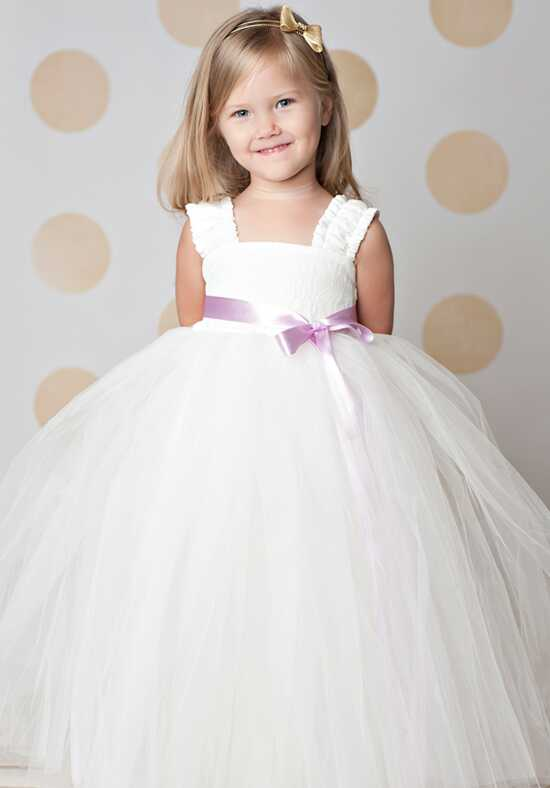 FATTIEPIE Elsa Ankle Ivory Flower Girl Dress
