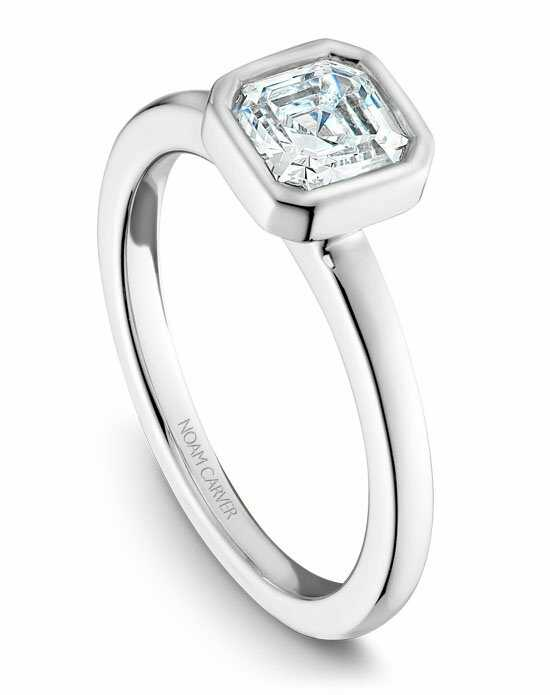 Noam Carver Unique Asscher Cut Engagement Ring