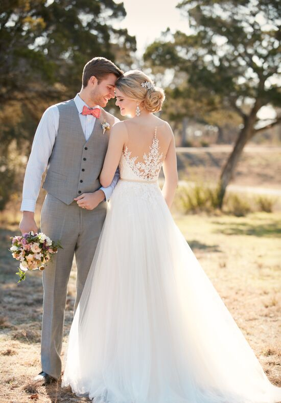 Essense of Australia D2085 A-Line Wedding Dress