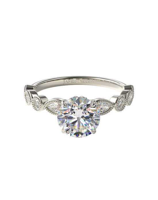 James Allen Elegant Princess, Cushion, Radiant, Round, Oval Cut Engagement Ring