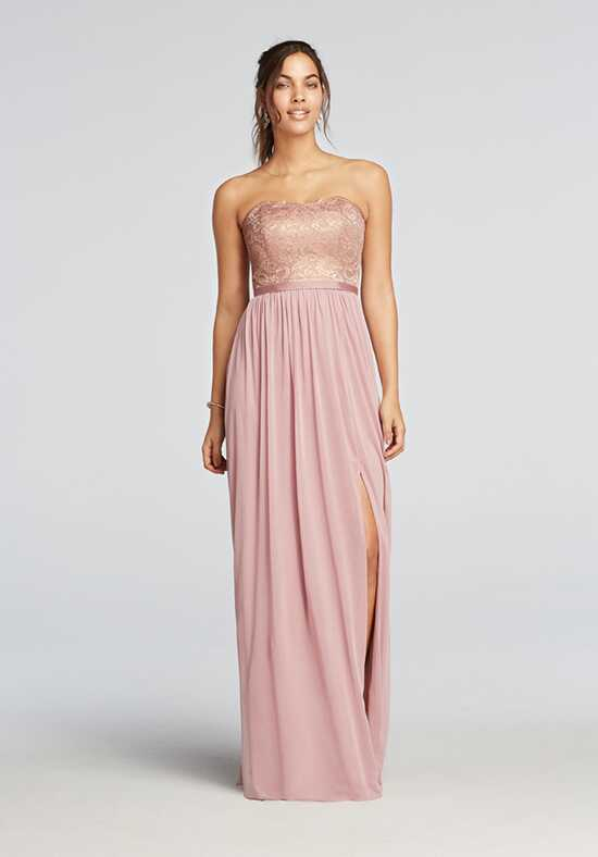 David's Bridal Collection David's Bridal Style F18095M Strapless Bridesmaid Dress