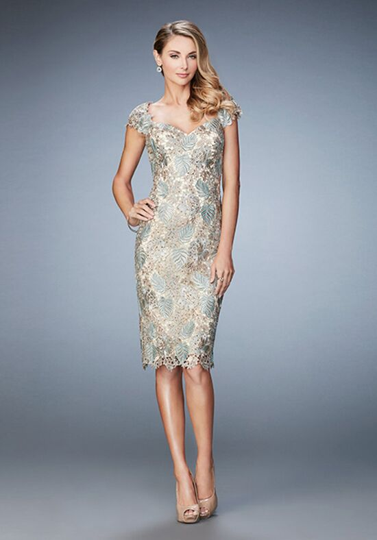 La Femme Evening 22986 Gold Mother Of The Bride Dress