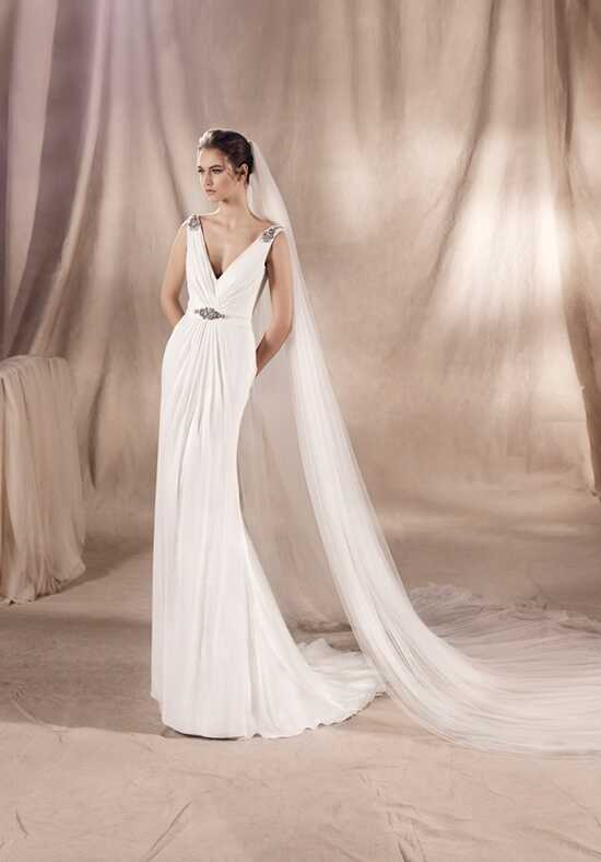 WHITE ONE SURIA Sheath Wedding Dress