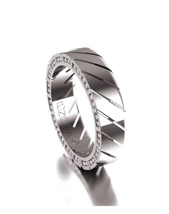 MÜZCINA by JJBückar BX11-A-100-D-XX-EB-14P-PX-65 Palladium, White Gold Wedding Ring