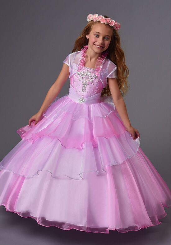 Cupids by Mary's F550 Pink Flower Girl Dress