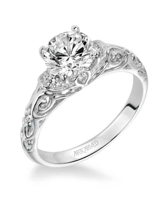 ArtCarved Vintage Round Cut Engagement Ring