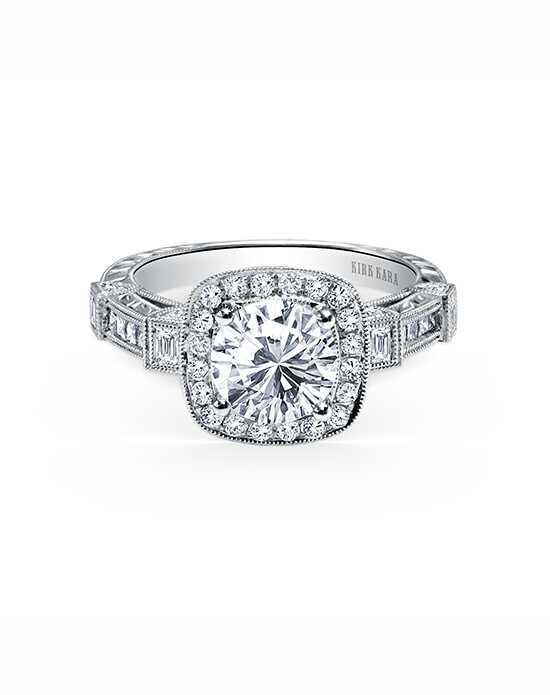 Kirk Kara Vintage Round Cut Engagement Ring