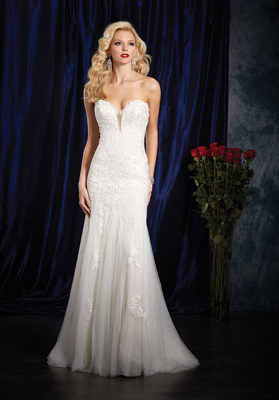 alfred angelo sapphire bridal collection 984 sheath wedding dress