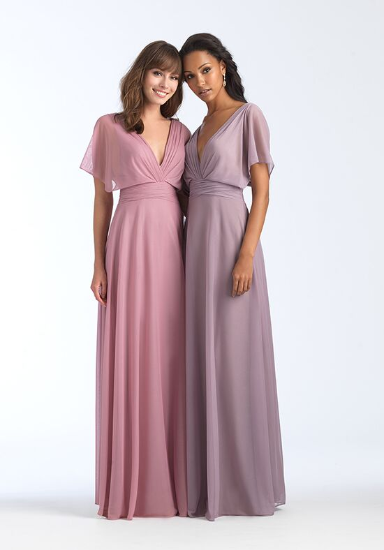 Allure Bridesmaids 1562 V-Neck Bridesmaid Dress