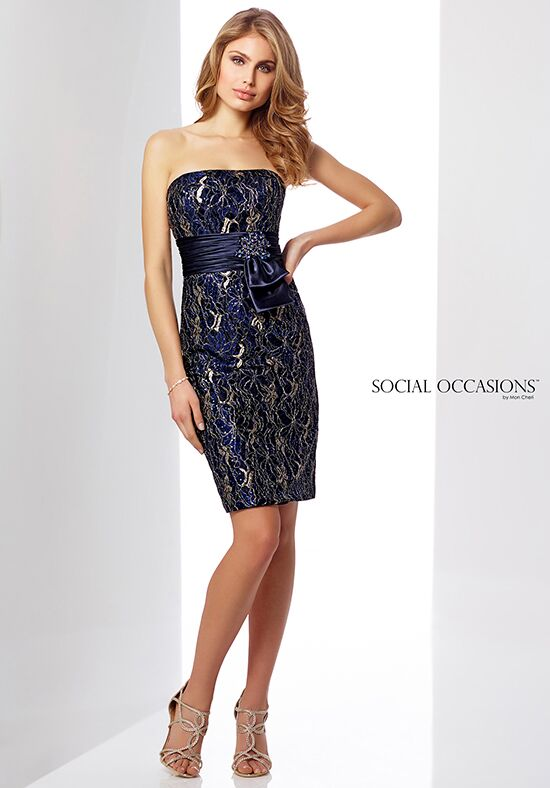 Social Occasions by Mon Cheri 217847 Blue Mother Of The Bride Dress