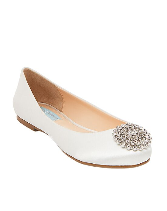 Blue by Betsey Johnson SB-EDITH Ivory, Silver Shoe