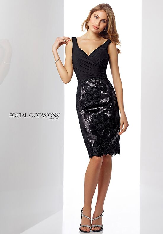 Social Occasions by Mon Cheri 217849 Black Mother Of The Bride Dress